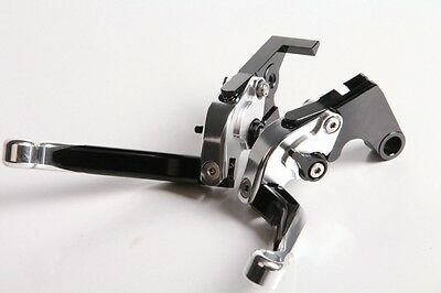 Levier levers flip-up foldable repliable SILVER/black CBR 600 F2,F3,F4,F4i 91-07