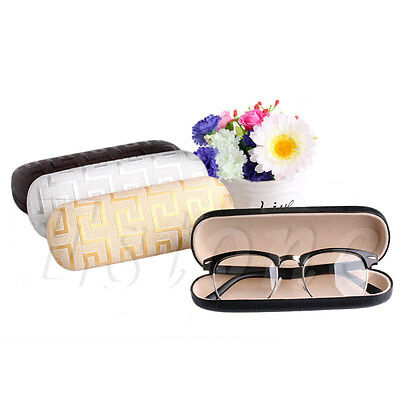 Sunglasses Reading Glasses Hard Leather Cade Spectacles Protector Box Clam Shell