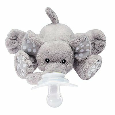 Nookums Paci-Plushies Elephant - Universal Pacifier Holder New