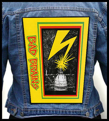 BAD BRAINS --- Giant Backpatch Back Patch / Black Flag Minor Threat  The Germs