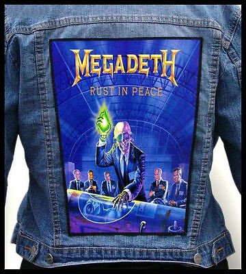 MEGADETH - Rust in Peace  --- Giant Backpatch Back Patch / Testament Annihilator