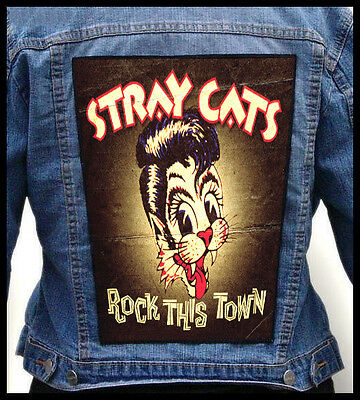 STRAY CATS - Rock This Town   --- Giant Backpatch Back Patch