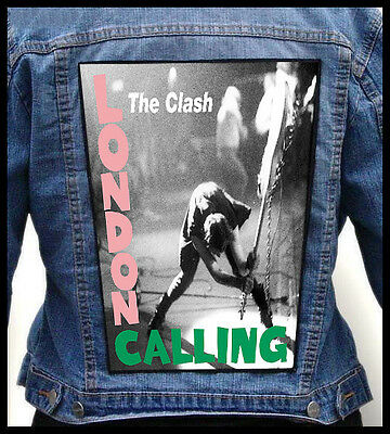 THE CLASH --- Giant Backpatch Back Patch / The Who The Jam The Stooges Iggy Pop