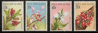 Papua New Guinea Sg531/4 1986 Orchids Mnh