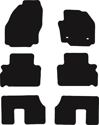 Ford Galaxy (2006 to 2014) Tailored Black 3mm Rubber Car Floor Mats Set of 6
