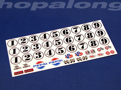 Scalextric/Slot Car 1/32 Scale Waterslide Decals. ws016