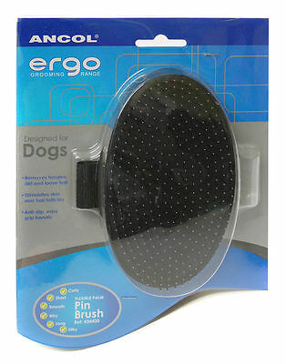 Ancol Dog Brush Flexible Terrier Palm Pin Grooming Pad
