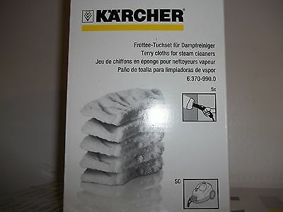 Karcher SC Range Terry clothes x5 For steam Cleaners sc2, Sc3 Sc4 and Sc5.