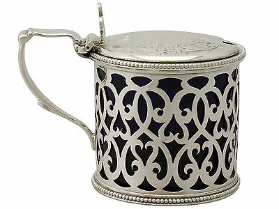 Antique Victorian Sterling Silver Mustard Pot