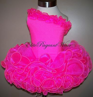 National Pageant Dress Shell  sizes 6mos to 5//6 Girls