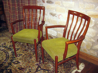 Pair of Moller Rosewood Carver Chairs Danish Modern Mid Century Retro Dining