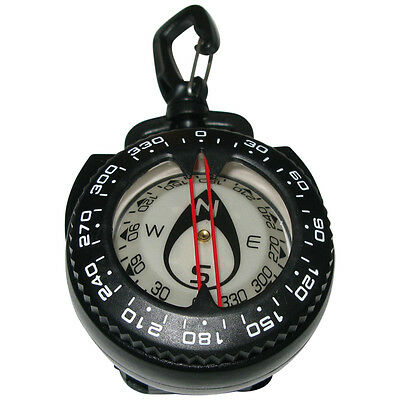 Dive Compass with clip and retractor waterproof for Scuba Underwater Navigation