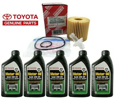 Genuine Toyota Synthetic Motor Oil SAE 0W-20 5 pack With Filter