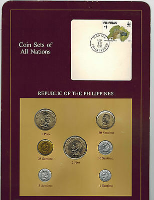 Philippines Coin Set of All Nation with Stamp Rare