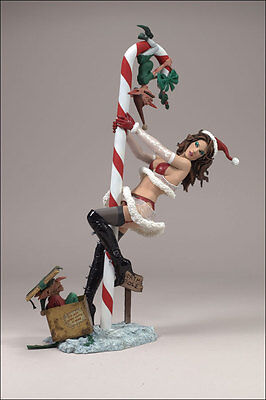 McFARLANE'S Twisted Toys X-Mas MRS. CLAUS Mère Noel Statue Figure Sexy New Nuovo