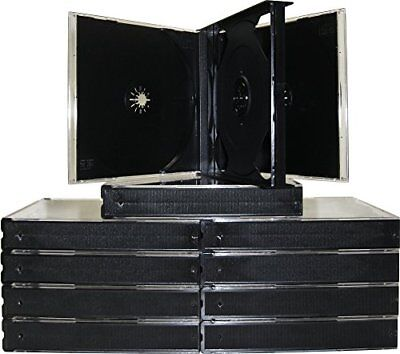 mediaxpo 10cd4black 10 Quad 4 Disc CD Jewel Case, Black New