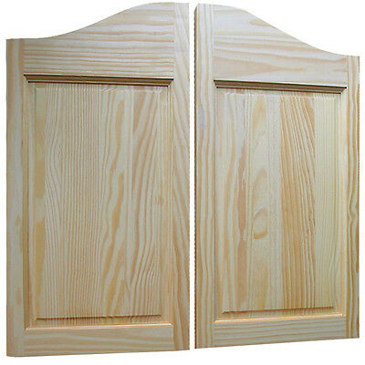 Raised Two-Panel Pine Saloon Doors - Old Western Style Swinging Unfinished Doors