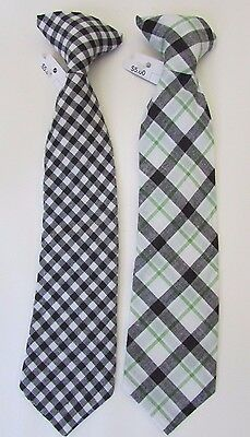 LOT OF 2 CLIP ON TIES - Clip-On Tie Size 12 Months- 5T Toddler