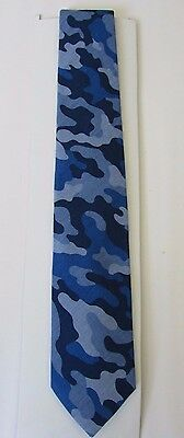 "City of London Boy's Neck Tie Blue Camo Color (49.25"" Total Length)"
