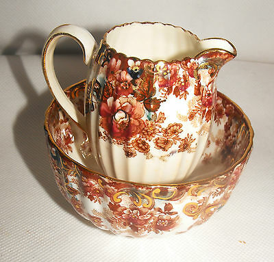Samuel Radford Antique English creamer and sugar bowl Dated 1880