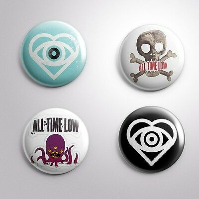 """4 ALL TIME LOW - Pinbacks Badges Buttons 1"""" 25mm"""