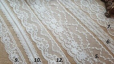 VINTAGE antique White/Ivory LACE RIBBON WEDDING TRIM Bridal Shabby dress diy NEW