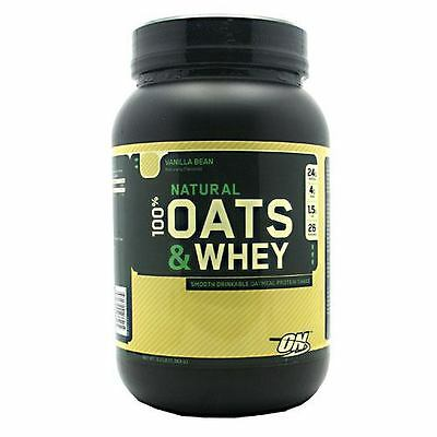 Optimum Nutrition Natural Oats And Whey 3Lb Protein Powder Discounted Low Price