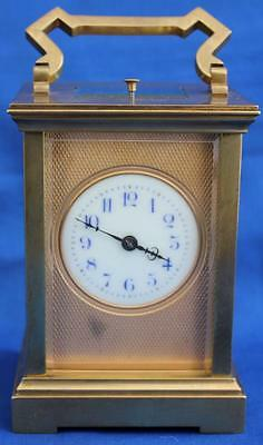 ANTIQUE FRENCH MASKED DIAL 8 DAY REPEATER CARRIAGE CLOCK COUAILLET FRERES 1860c