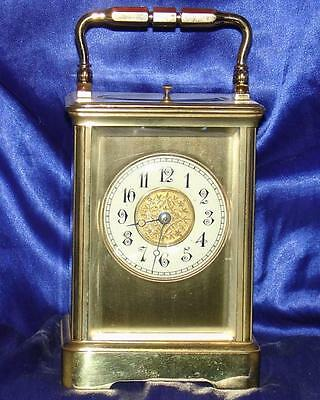 Antique French Harris & Harrington Grande Corniche 8 Day Repeater Carriage Clock