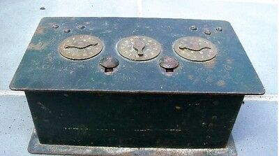 Combination Safe Treasure Chest Victorian Jewelry Cast Iron Wrought Early Xx C.