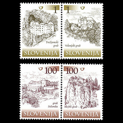 Slovenia 2000 - Castles and Manors in Slovenia Architecture - Sc 401a,413a MNH
