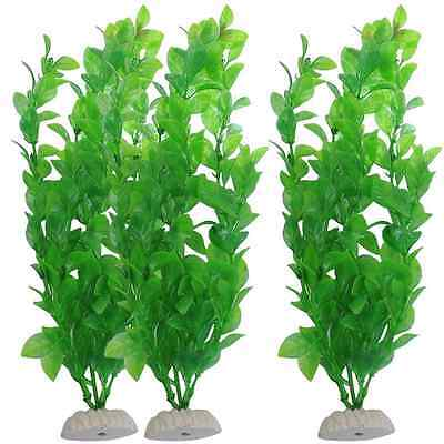 Long Plastic Green Grass Aquarium Decor Water Sea Weed Fish Tank Decor US