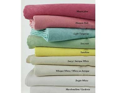 Damask Poly-Cotton Tablecloth - Wrinkle Resistant