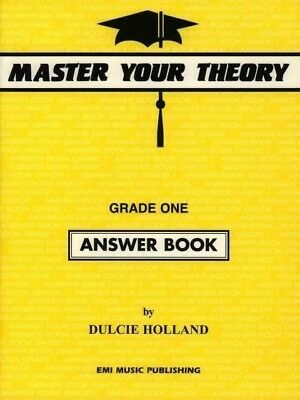 Master Your Theory Grade One Answer Book by Dulcie Holland *NEW* 1, Yellow