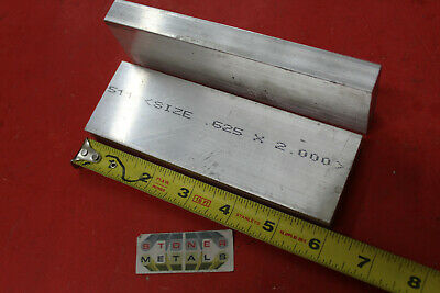 "2 pieces 5//8/"" x 2/"" 6061 Aluminum Extruded Bar 10/"" long Plate Stock"