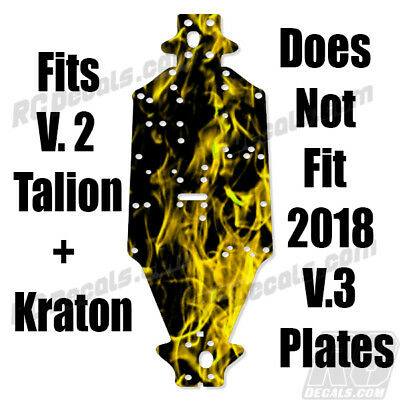 2018 Arrma Talion 6S BLX AR320444 Chassis Protector Flames Purple