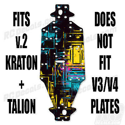 Arrma Talion /& Kraton Chassis Protector Checkered AR320197