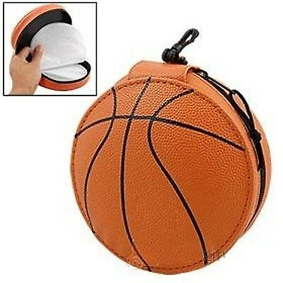 BASKET BALL Zippered Carrying Storage Bag 24 CD / DVD disk Brown Case Holder New