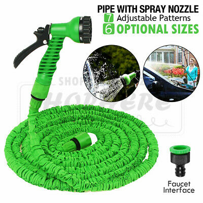 Green Magic Expandable Equipment Retractable Garden Hose Pipe Spray Head Nozzle