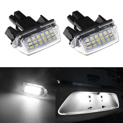 2Pcs 18-SMD LED Xenon License Plate Light For Toyota CAMRY 2012-2015 New