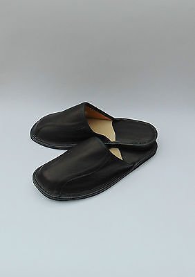 Mens Very Soft Real Leather Slippers **EU HAND MADE PRODUCT **size 10