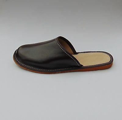 Mens Real Leather Slippers **EU GENUINE HAND MADE PRODUCT**size 8