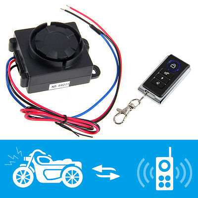 Motorcycle Anti Theft Security Alarm System w/Remote Control Vibration Sensor