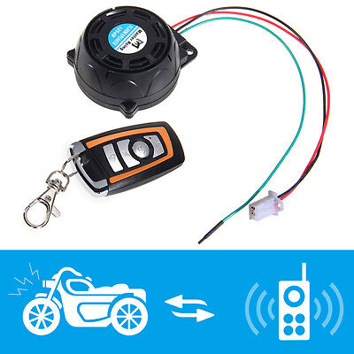 Motorcycle Anti Theft Alarm Systems Remote Control Security Engine Start DC 12V