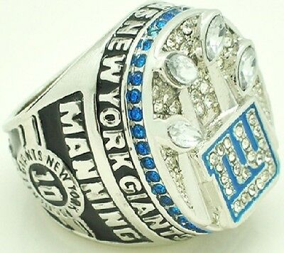 Goodies Bague Chevaliere NFL Eli MANNING NY GIANTS Superbowl 2011 neuve