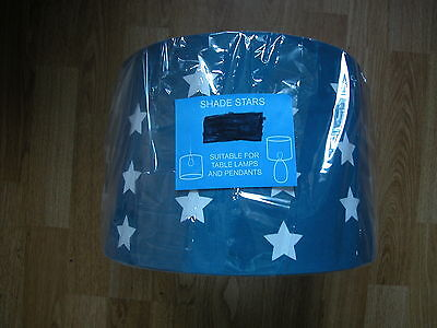 NEXT NAVY BLUE STAR CEILING LAMP SHADE BOYS GOES bedset curtain