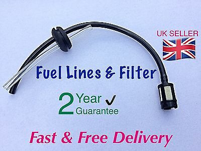CHAINSAW Fuel Pipes With Tank Filter Assembly & 20mm Grommet.UK SELLER