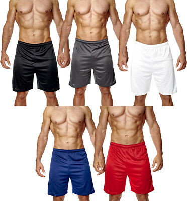 Mens Football Shorts Jogging Running Gym Sports Breathable Fitness Size XS - 3XL