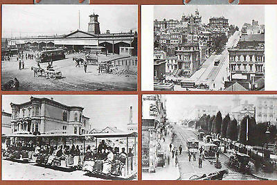 p146 | Set of 10 S. F. cable car postcards, REPROs from City Archives; amazing!