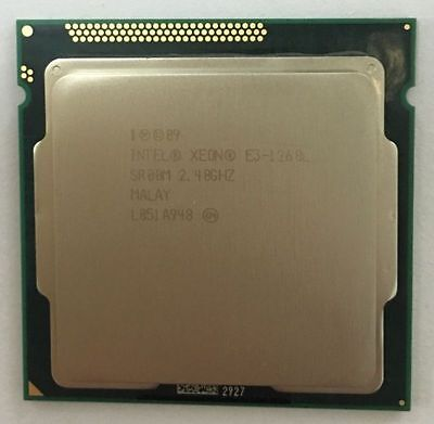 CPU Intel Xeon E3-1260L Low-Power 2.4 GHz Quad-Core  LGA1155  45W  Processor CPU